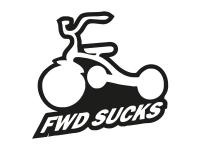 1 x 2 Plott Aufkleber FWD Sucks Dreirad Kinderrad Sticker Tuning Autoaufkleber