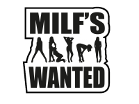 1 x 2 Plott Aufkleber Milf's Wanted Sticker Shocker Tuning Autoaufkleber Fun Gag