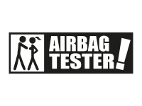 1 x 2 Plott Aufkleber Airbag Tester Airbagtester Sticker Tuning Shocker OEM Fun