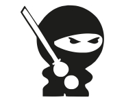 1 x 2 Plott Aufkleber Bad Ninja Böser Ninja Karate Sticker Smiley Tuning Fun Gag