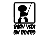 1 x 2 Plott Aufkleber Baby Yedi On Board Skywalker Any Dartv Vader Star Wars Fun