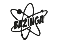 1 x 2 Plott Aufkleber Atom Bazinga Bam Sticker Shocker Tuning Static Stance Fun