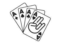 1 x 2 Plott Aufkleber 4 Asse Poker Ass Shocker Pokerkarten Karten Cards Sticker