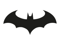 1 x 2 Plott Aufkleber Fledermaus Bat Batman Joker Arkham Dark Knight Sticker Fun