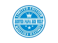 1 x Aufkleber Bester Papa der Welt Geschenk Sticker Autoaufkleber Shocker Tuning