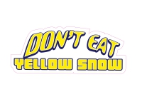 1 x Aufkleber Don't eat Yellow Snow Schnee Tuning Sticker Autoaufkleber Fun Gag