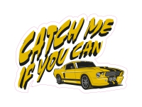 1 x Aufkleber Catch me if you can Tuning Sticker Shocker Autoaufkleber Fun Gag
