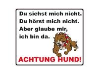 1 x Aufkleber Achtung Hund Autoaufkleber Garage Zaun Shocker Sticker Fun Gag