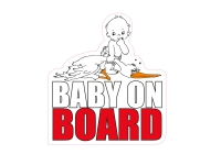 1 x Aufkleber Baby On Board Autoaufkleber Sticker Fun Gag Shocker Tuning Auto
