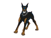 1 x Aufkleber Dobermann Dogge Hund Dog Sticker Shocker Tuning Autoaufkleber Fun