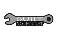 1 x Aufkleber Built Not Bought Schraubenschlüssel Schlüssel Sticker Tuning Fun