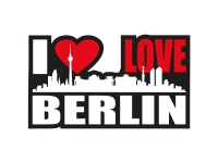 1 x Aufkleber I Love Berlin Skyline Sticker Autoaufkleber Tuning Stickerbomb Fun