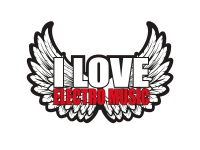 1 x Aufkleber I Love Electro Music Sticker DJ Disco Club Musik Black Tuning Fun