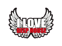 1 x Aufkleber I Love Deep House Music Sticker DJ Disco Club Musik R&B Tuning Fun