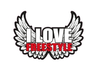 1 x Aufkleber I Love Freestyle Music Sticker DJ Disco Club Musik R&B Tuning Fun