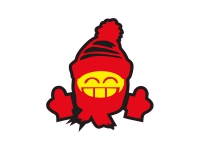 1 x Aufkleber Winter Smiley Shocker Smile Snow Santa Clause Sticker Tuning Fun
