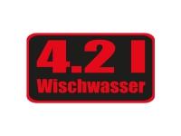 1 x Aufkleber 4.2 l Wischwasser Red Edition Sticker Tuning Autoaufkleber Fun Gag
