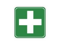 1 x Aufkleber Verbandskasten Erste Hilfe Pflaster Verband Kasten Hilfe Sticker