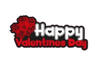 1 x Aufkleber Happy Valentines Day Valentinstag Valentin Tag Sticker Liebe Love