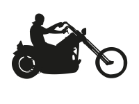 1 x 2 Plott Aufkleber Biker Rider Ghostreider Motorrad Sticker Tuning Static Fun