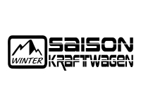 1 x 2 Plott Aufkleber Saison Kraftwagen Winter Schnee Auto Sticker Tuning Fun