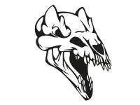 1 x 2 Plott Aufkleber 001 Totenkopf Reptil Skull Bones Sticker Tuning Static Fun