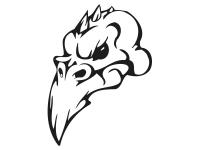 1 x 2 Plott Aufkleber 002 Totenkopf Reptil Skull Bones Sticker Tuning Static Fun