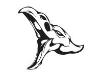 1 x 2 Plott Aufkleber 010 Totenkopf Reptil Skull Bones Sticker Tuning Static Fun
