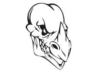 1 x 2 Plott Aufkleber 017 Totenkopf Reptil Skull Bones Sticker Tuning Static Fun