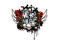 1 x Aufkleber Death Metal Music Skull Bones Party Rock DJ Club Sticker Fun Gag