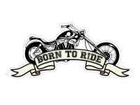 1 x Aufkleber Born To Ride Motorcycle Scooter Roller Motorrad Sticker Tuning Fun