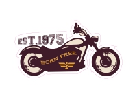 1 x Aufkleber Born Free Motorcycle Est 1975 Motorrad Sticker Tuning Static Fun