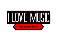 1 x Aufkleber I Love Music High Quality Sound Sticker DJ Tuning Musik Static Fun