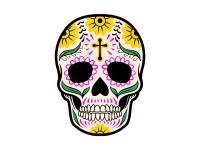 1 x Aufkleber Skull 003 Totenkopf Schädel Sensenmann Death Bones Sticker Tuning