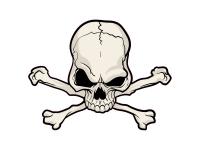 1 x Aufkleber Skull 007 Totenkopf Schädel Sensenmann Death Bones Sticker Tuning