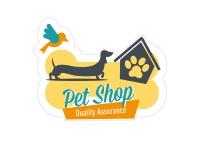 1 x Aufkleber Pet Shop Quality Assurance Hund Dackel Vogel Sticker Fun Gag Decal